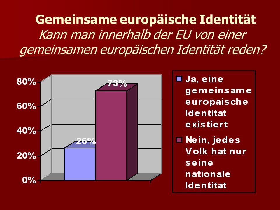 Gemeinsame europäische Identität Kann man innerhalb der EU von einer gemeinsamen europäischen Identität reden?