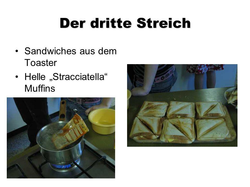Der dritte Streich Sandwiches aus dem Toaster Helle Stracciatella Muffins