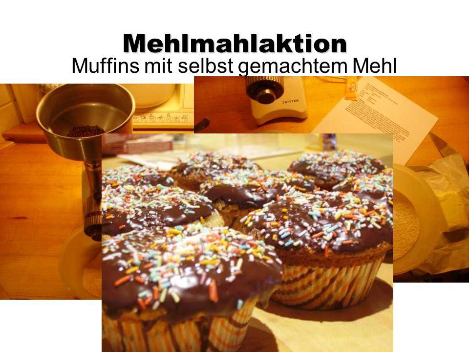 Mehlmahlaktion Muffins mit selbst gemachtem Mehl