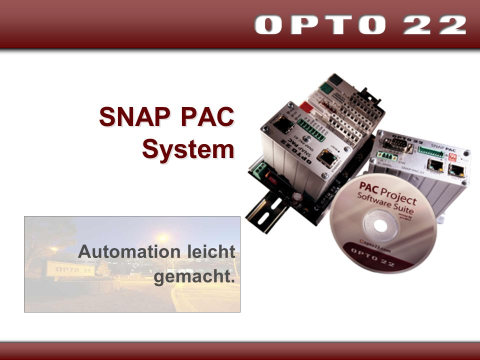 SNAP PAC System Automation leicht gemacht.