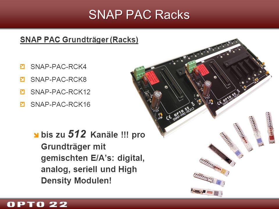 SNAP PAC Racks SNAP PAC Grundträger (Racks) SNAP-PAC-RCK4 SNAP-PAC-RCK8 SNAP-PAC-RCK12 SNAP-PAC-RCK16 bis zu 512 Kanäle !!! pro Grundträger mit gemisc