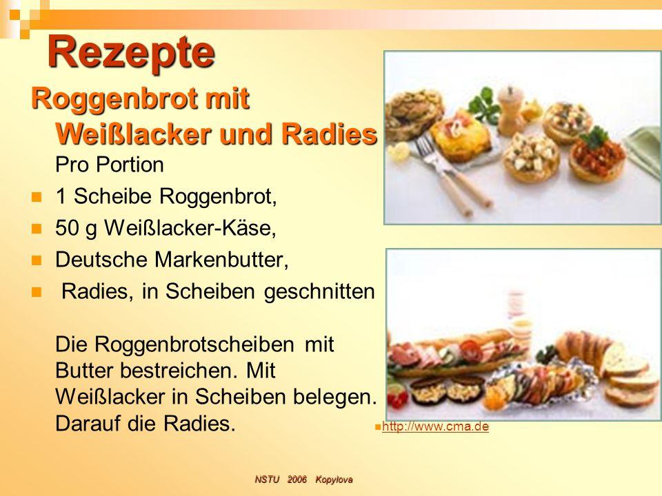 Rezepte Roggenbrot mit Weißlacker und Radies Roggenbrot mit Weißlacker und Radies Pro Portion 1 Scheibe Roggenbrot, 50 g Weißlacker-Käse, Deutsche Mar