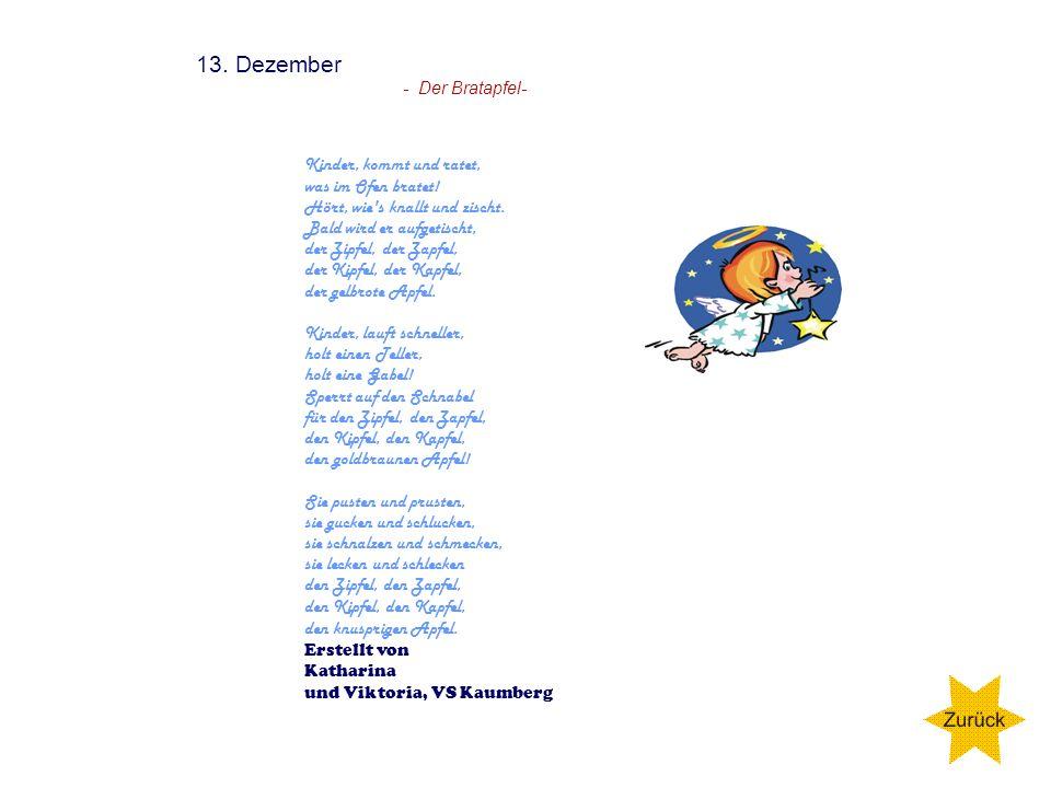 12. Dezember Erstellt von Katharina, Viktoria und Patrick VS - Kaumberg