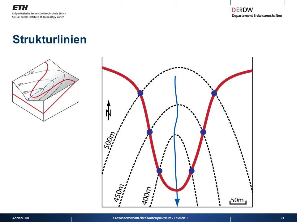 Adrian Gilli21Erdwissenschaftliches Kartenpraktikum - Lektion 0 Strukturlinien