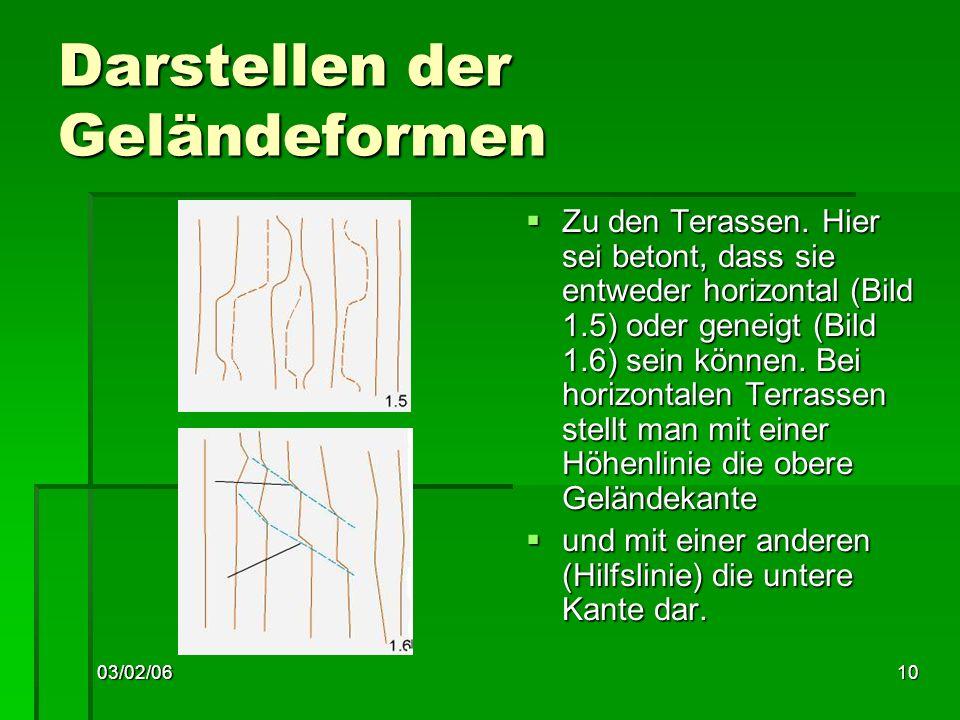 03/02/0610 Darstellen der Geländeformen Zu den Terassen.