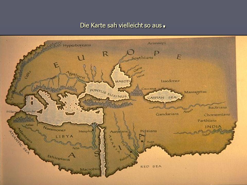 Die Karte sah vielleicht so aus.