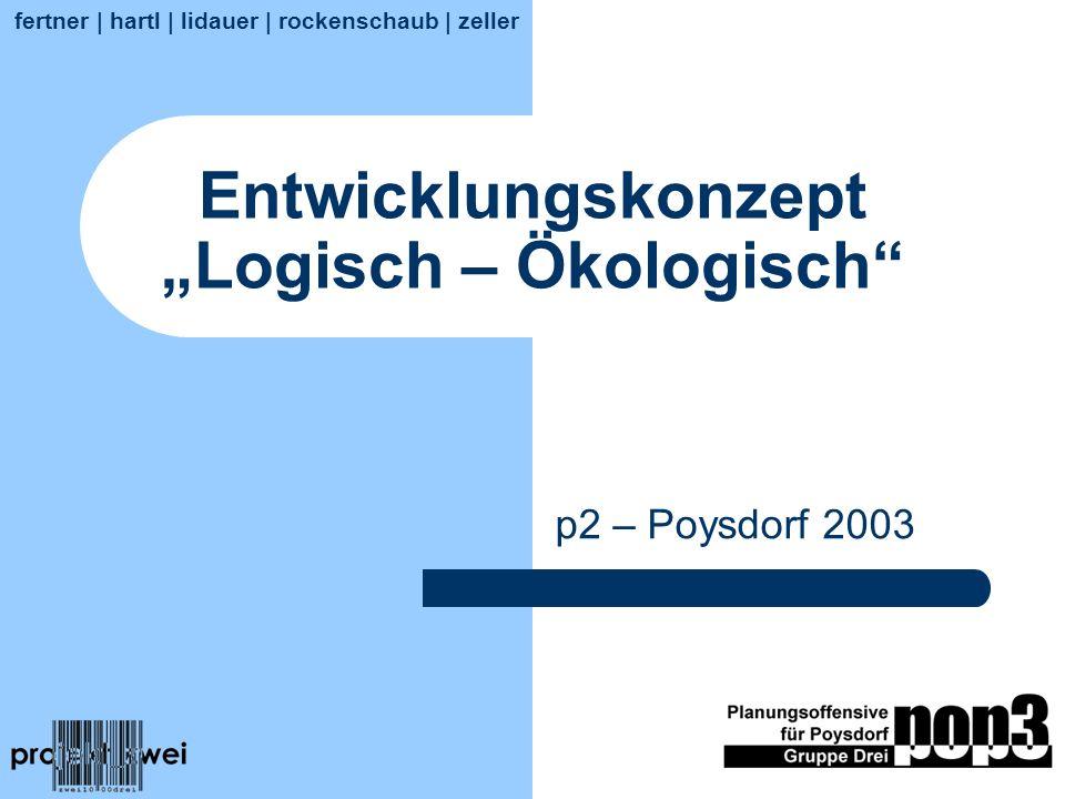 Entwicklungskonzept Logisch – Ökologisch p2 – Poysdorf 2003 fertner | hartl | lidauer | rockenschaub | zeller