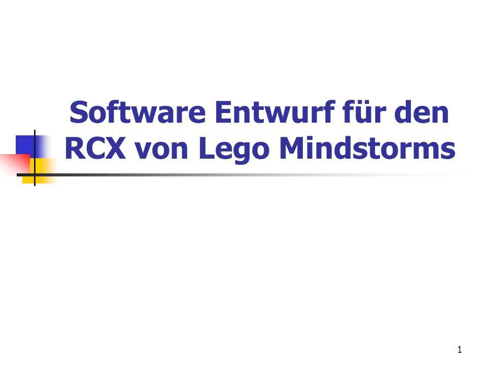 1 Software Entwurf für den RCX von Lego Mindstorms