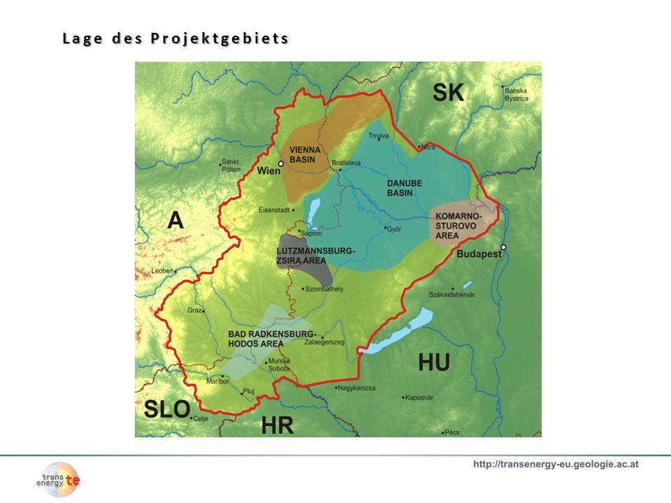 Die Thermalwassernutzungen im Projektgebiet Hintergrund: Hydrogeologische Karte von Europe 1:1.5000,000, UNESCO