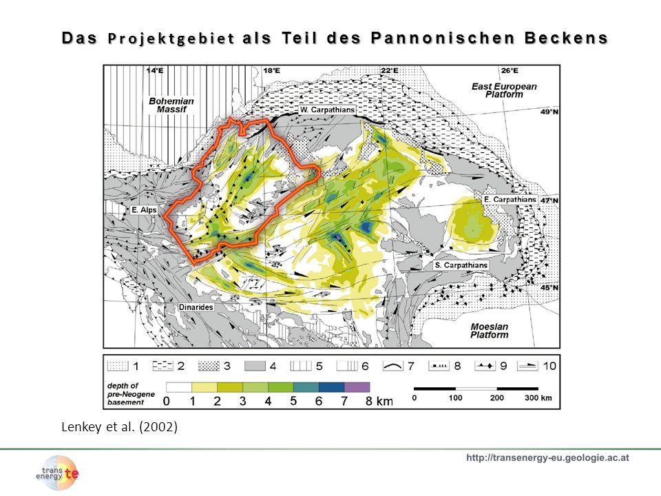Das Projektgebiet als Teil des Pannonischen Beckens Lenkey et al. (2002)