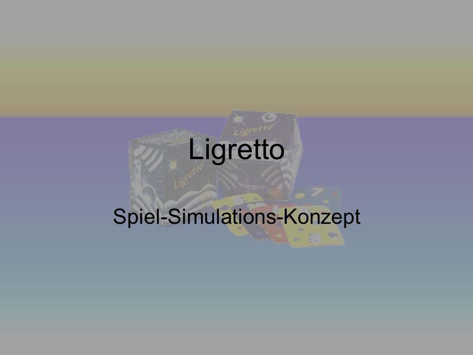 Ligretto Spiel-Simulations-Konzept
