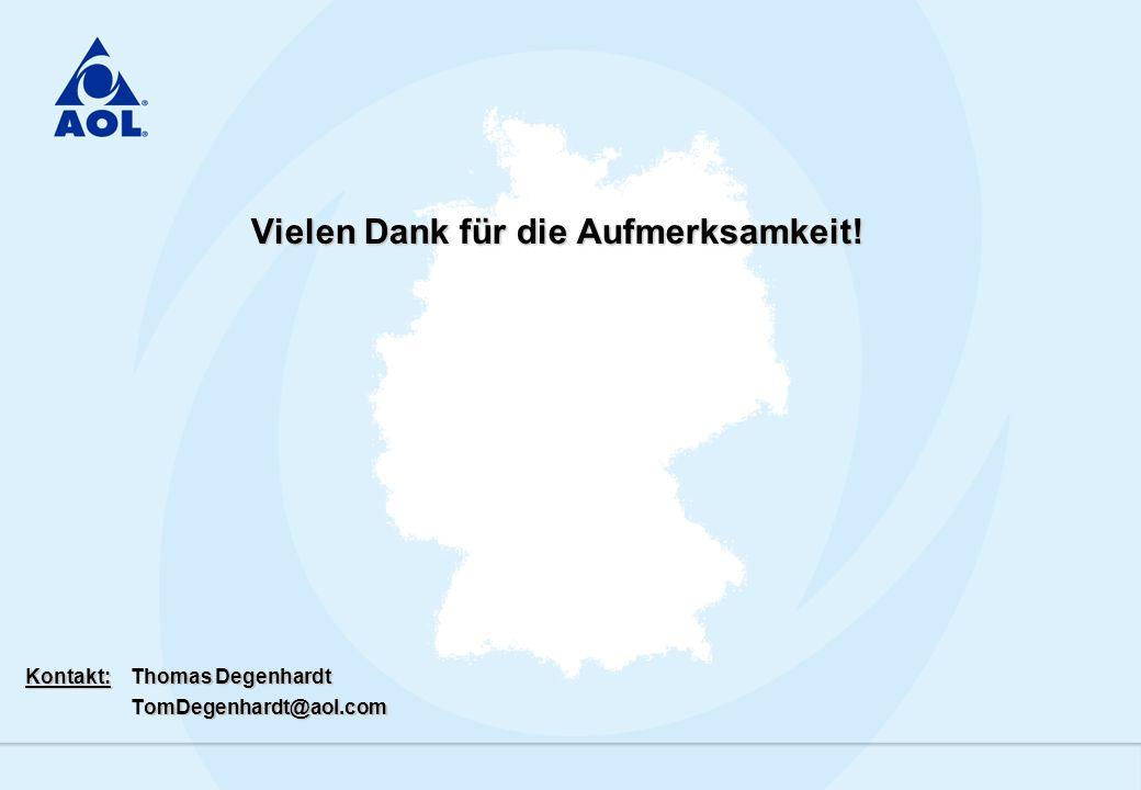Vielen Dank für die Aufmerksamkeit! Kontakt:Thomas Degenhardt TomDegenhardt@aol.com