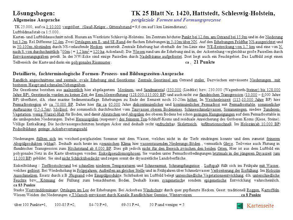 Physisch-geographische Karteninterpretation, fluviale Formen Eingangsseite Text Lösungsbogen