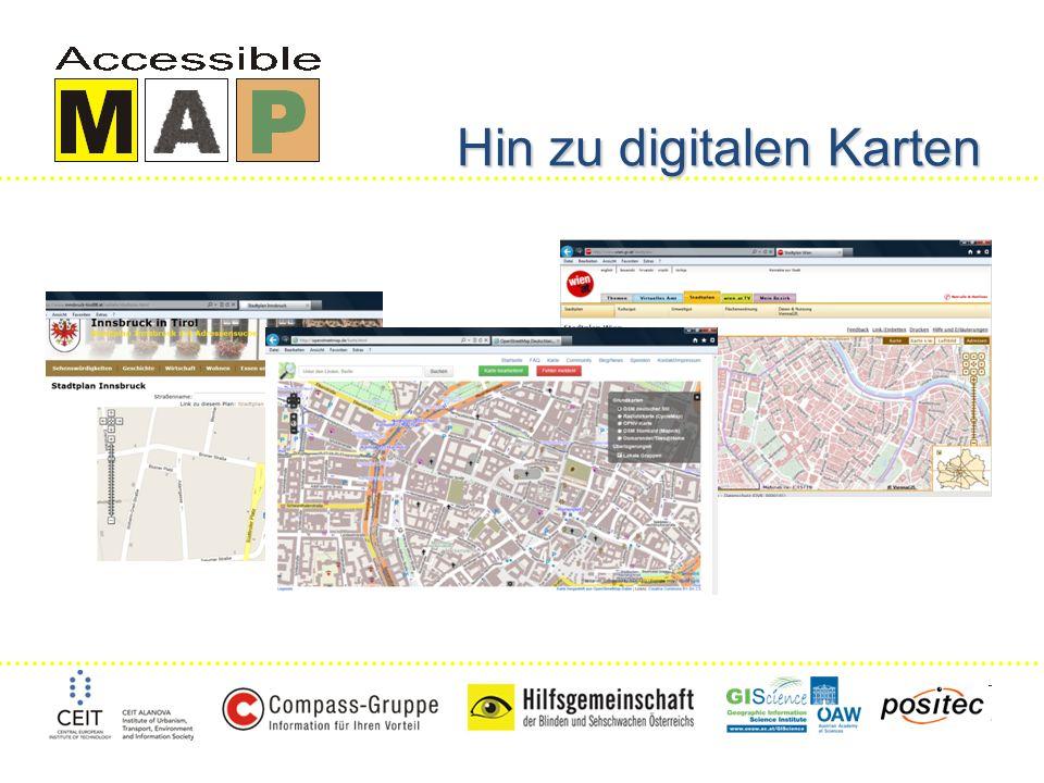 Hin zu digitalen Karten