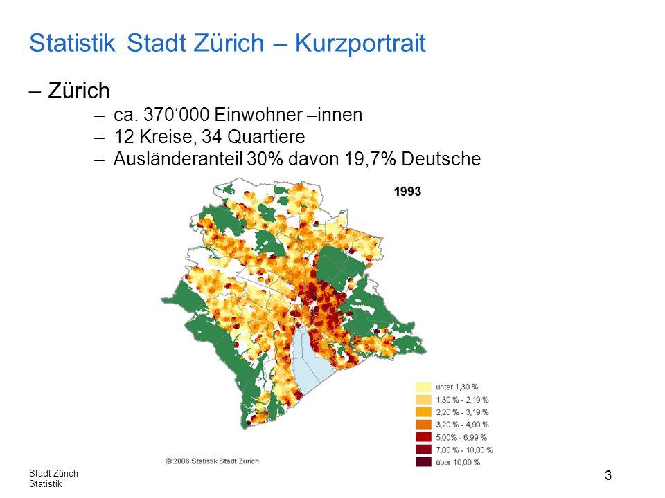 3 Stadt Zürich Statistik Statistik Stadt Zürich – Kurzportrait –Zürich –ca.