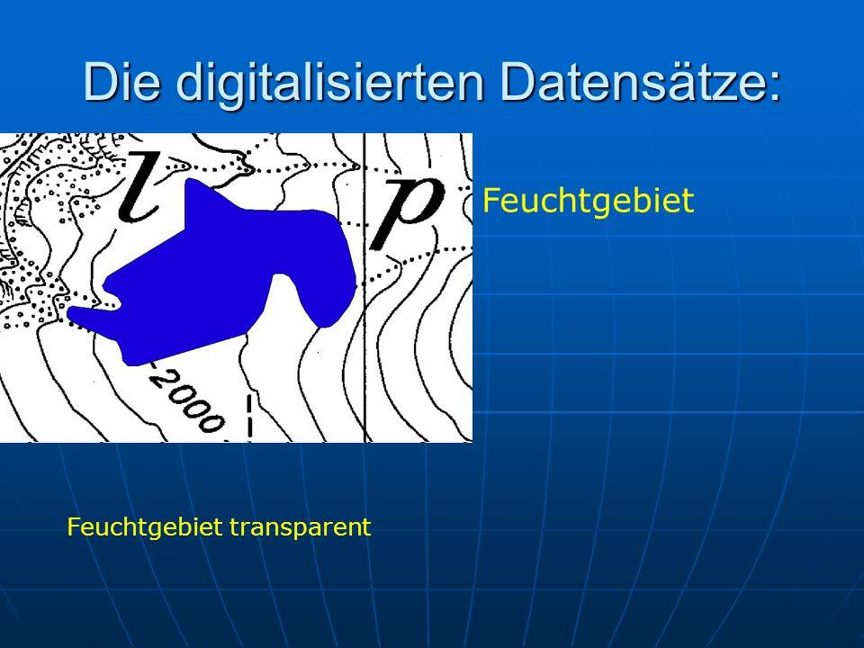 Die digitalisierten Datensätze: Feuchtgebiet Feuchtgebiet transparent