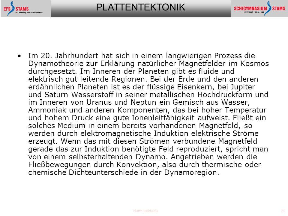 PLATTENTEKTONIK Plattentektonik25 Im 20.