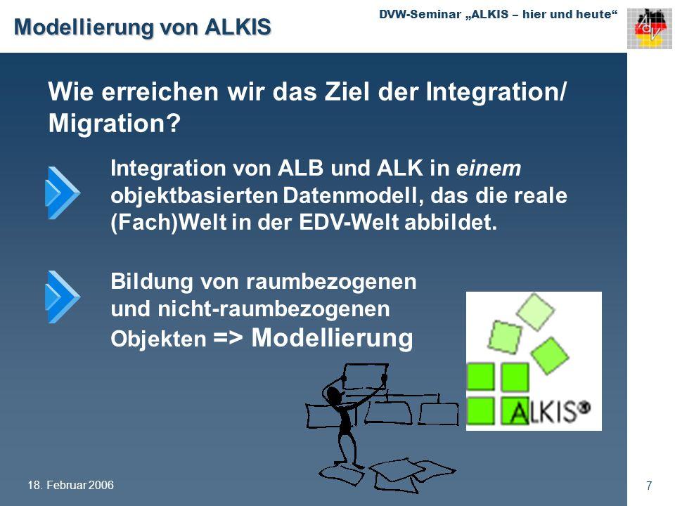DVW-Seminar ALKIS – hier und heute 18. Februar 2006 18 ALKIS- Migration ???
