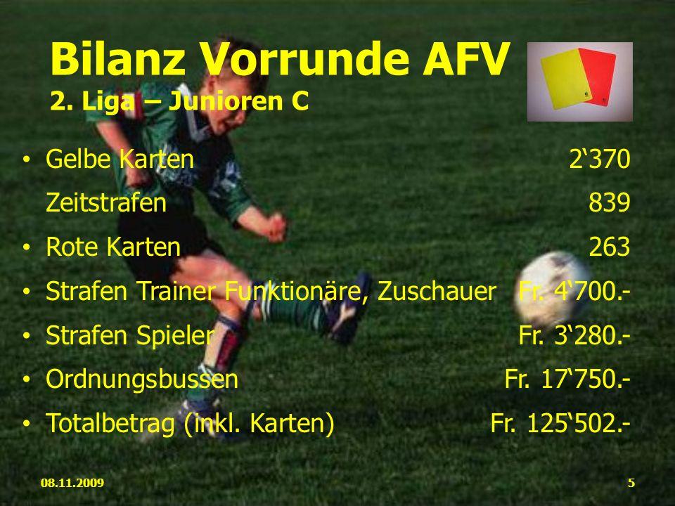 Gelbe Karten2370 Zeitstrafen839 Rote Karten263 Strafen Trainer Funktionäre, ZuschauerFr.