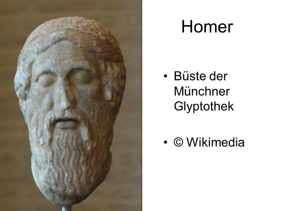 Homer Büste der Münchner Glyptothek © Wikimedia