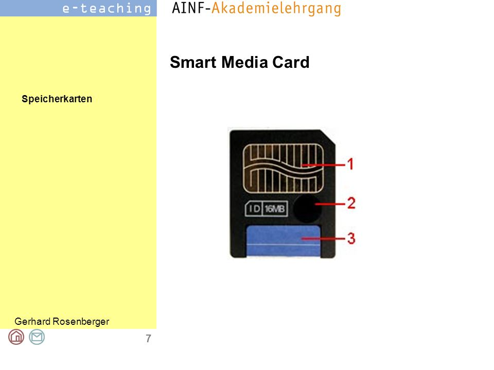 Speicherkarten Gerhard Rosenberger 7 Smart Media Card