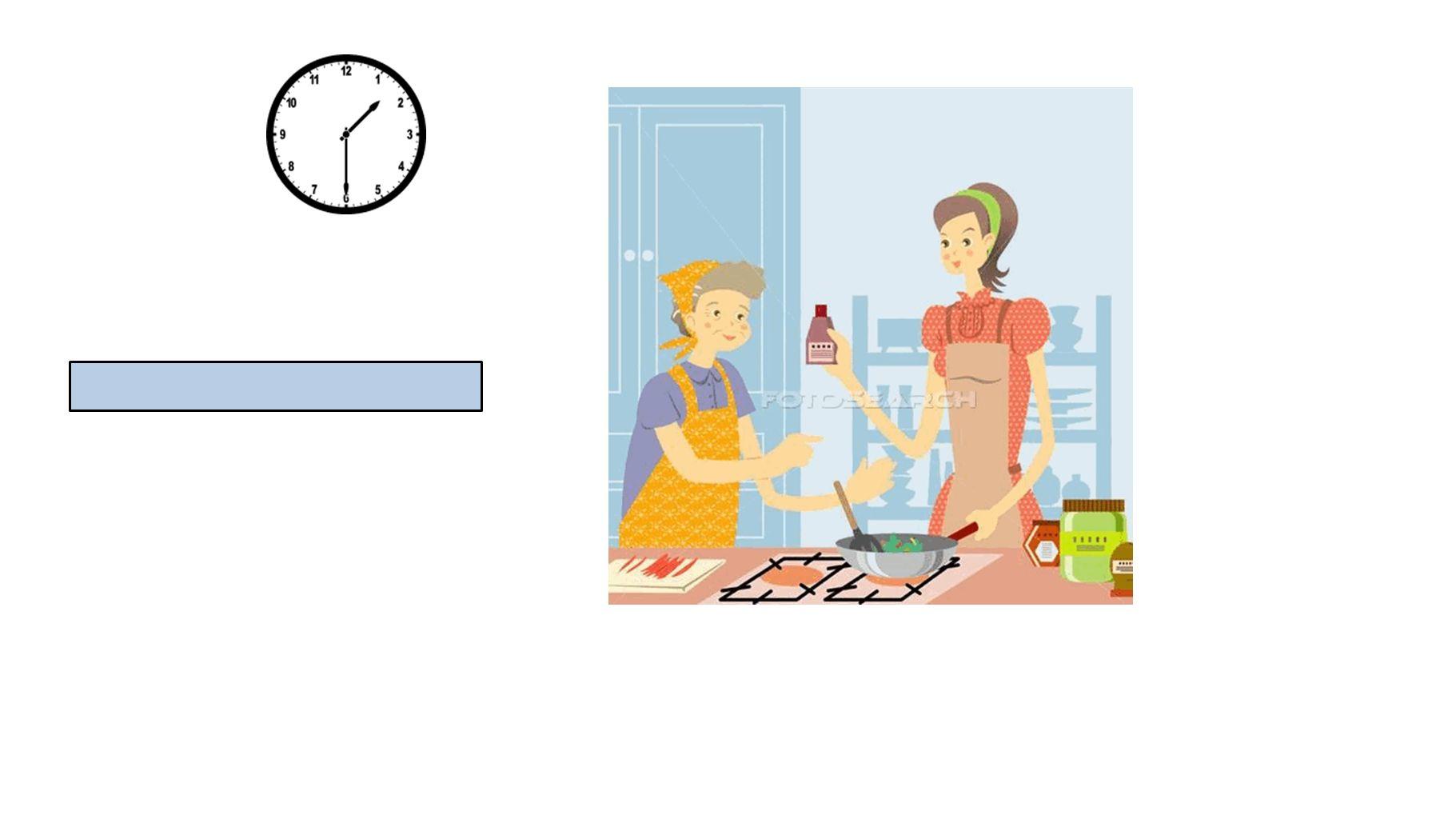 Sie kochen um halb zwei.