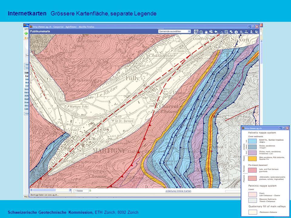 Schweizerische Geotechnische Kommission, ETH Zürich, 8092 Zürich InternetkartenGrössere Kartenfläche, separate Legende