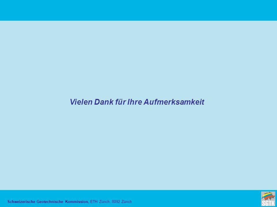 Schweizerische Geotechnische Kommission, ETH Zürich, 8092 Zürich Vielen Dank für Ihre Aufmerksamkeit