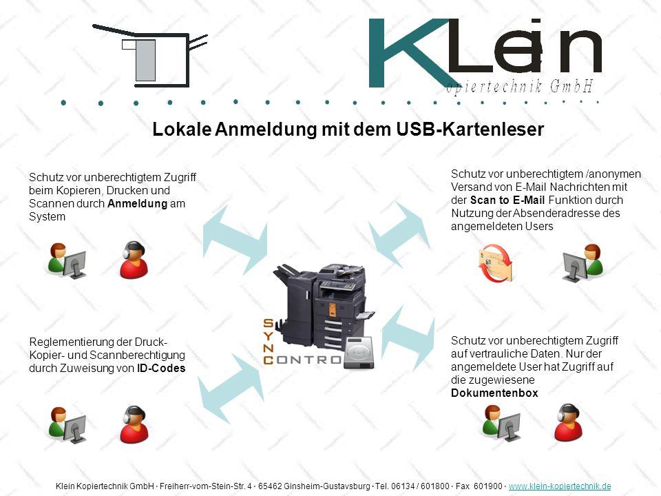 Klein Kopiertechnik GmbH Freiherr-vom-Stein-Str. 4 65462 Ginsheim-Gustavsburg Tel. 06134 / 601800 Fax 601900 www.klein-kopiertechnik.dewww.klein-kopie