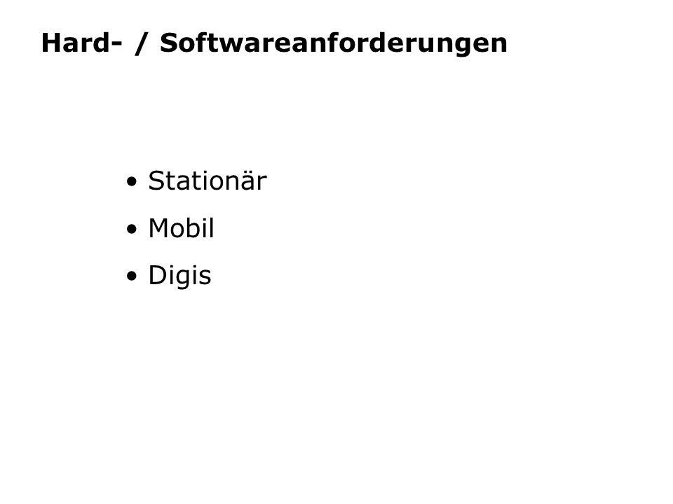 Hard- / Softwareanforderungen Stationär Mobil Digis