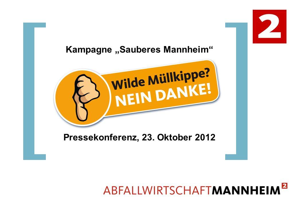 Kampagne Sauberes Mannheim Pressekonferenz, 23. Oktober 2012