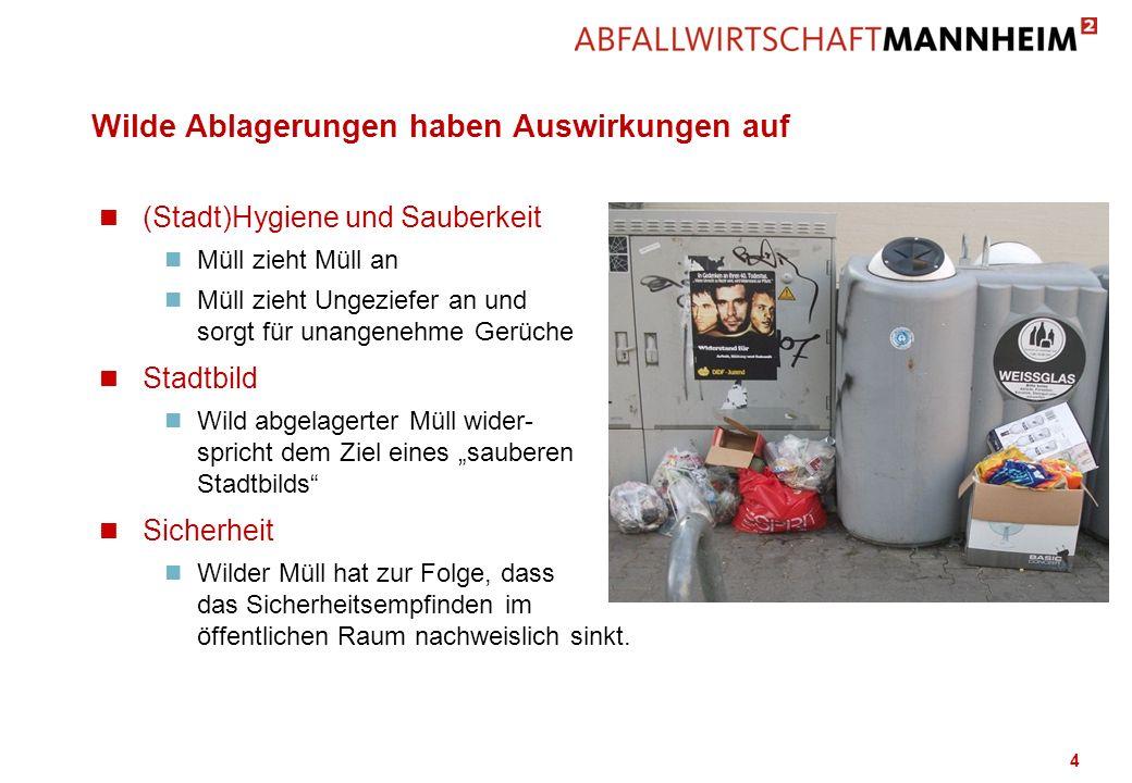 Wilde Ablagerungen haben Auswirkungen auf n (Stadt)Hygiene und Sauberkeit n Müll zieht Müll an n Müll zieht Ungeziefer an und sorgt für unangenehme Ge