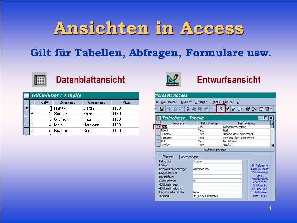5 Relationales Datenbanksystem Mehrfaches Speichern derselben Daten soll vermieden werden Daten werden so verwaltet, dass sie zueinander in BEZIEHUNG (Abhängig- keitsverhältnis/Relation) gesetzt werden