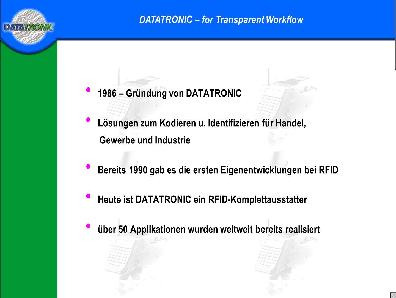 1986 – Gründung von DATATRONIC Lösungen zum Kodieren u.