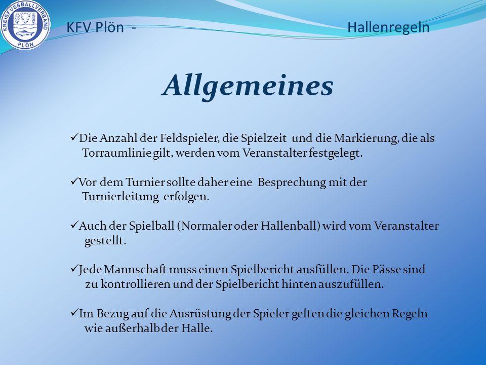 DIE HALLE KFV Plön - Hallenregeln