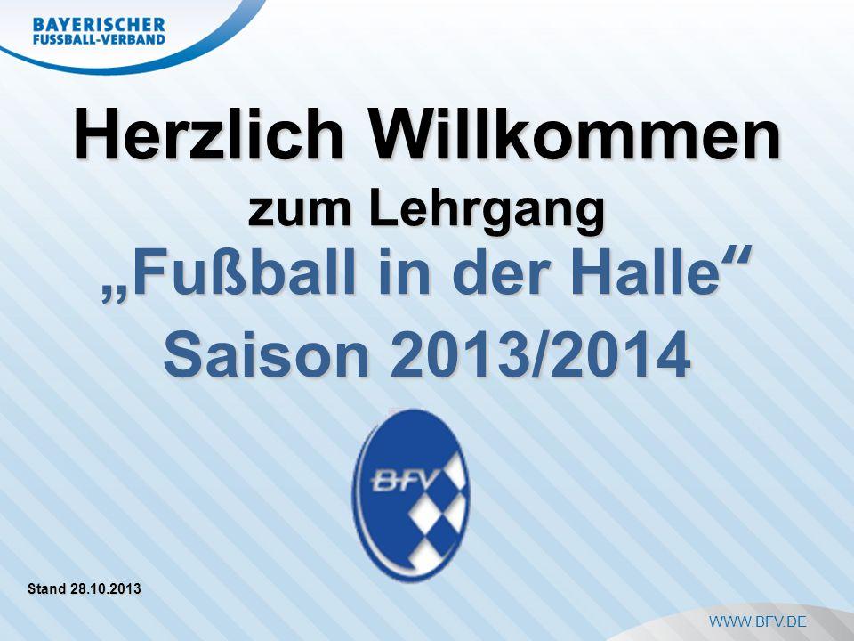 Auswechselbank und Auswechselvorgang (2) November 2013Fußball in der Halle12 Anzahl der Spieler pro Spiel: maximal 12 (TW + 4 Feldspieler) Auf der Bank: max.