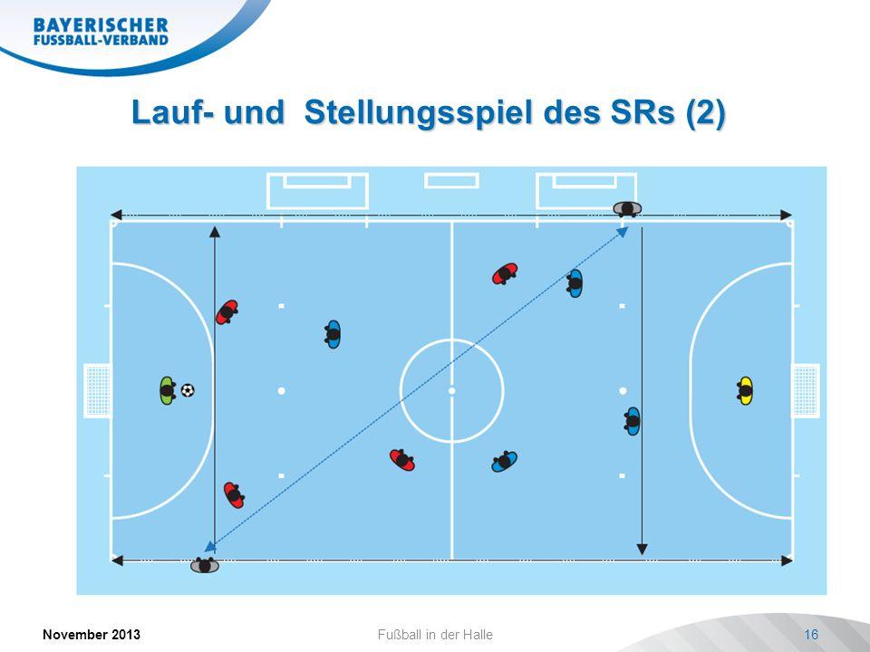 Lauf- und Stellungsspiel des SRs (2) November 2013Fußball in der Halle16