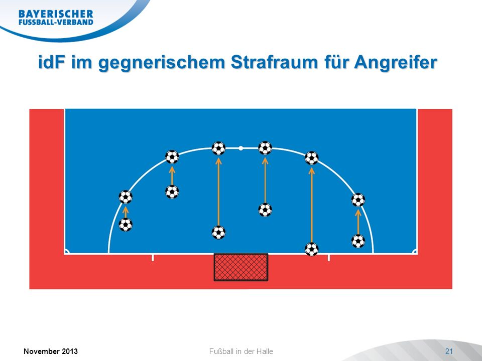 idF im gegnerischem Strafraum für Angreifer November 2013Fußball in der Halle21 Bild