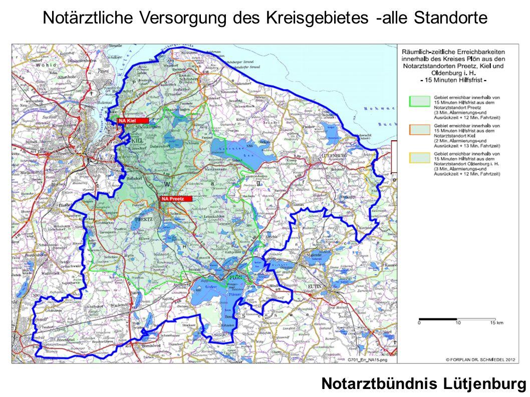 Notarztbündnis Lütjenburg Notärztliche Versorgung des Kreisgebietes -alle Standorte