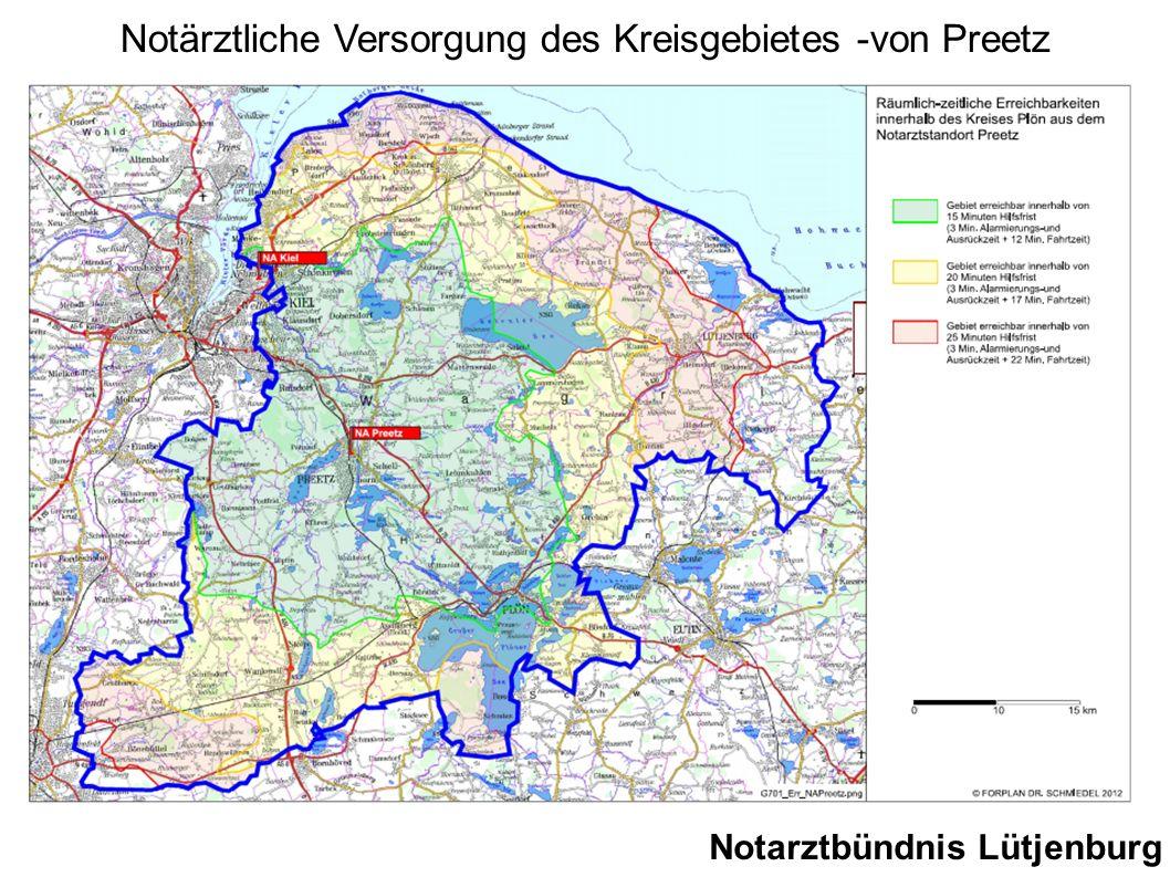 Notarztbündnis Lütjenburg Notärztliche Versorgung des Kreisgebietes -von Preetz