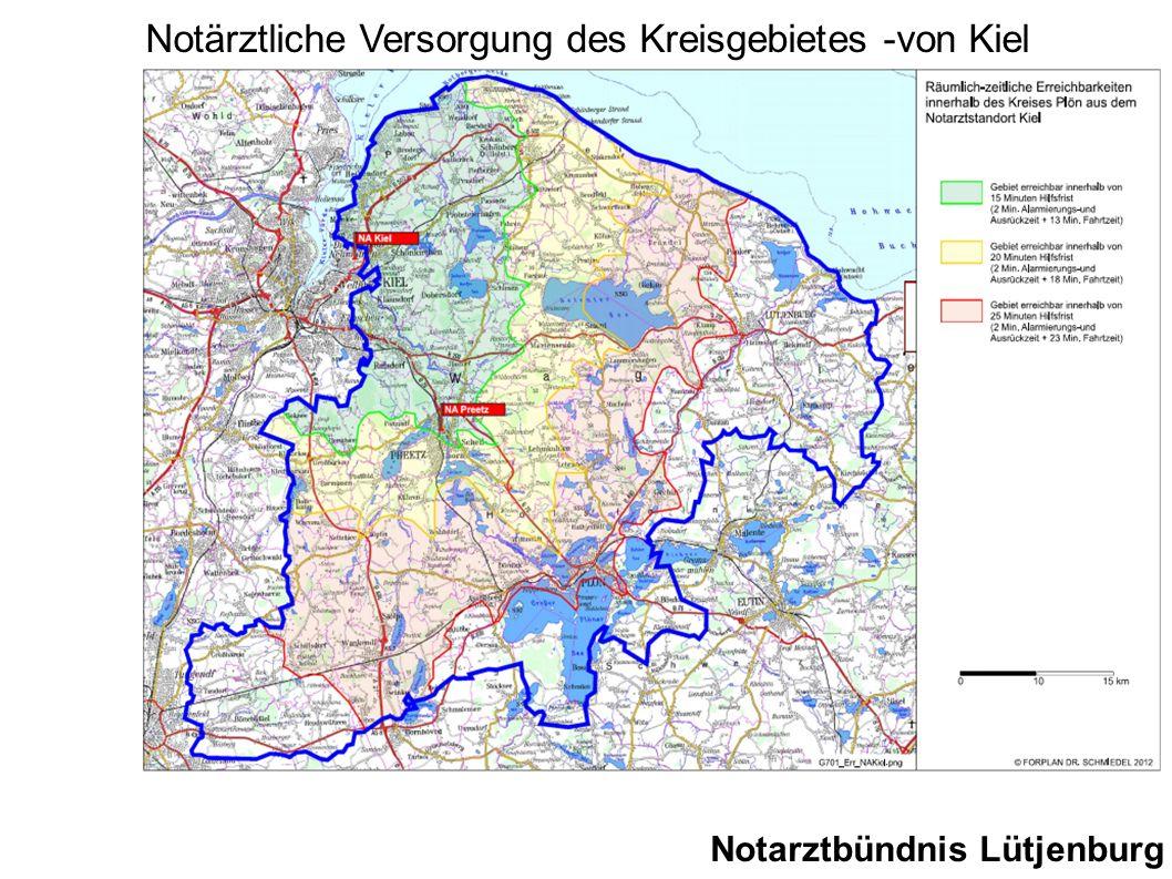 Notarztbündnis Lütjenburg Notärztliche Versorgung des Kreisgebietes -von Kiel