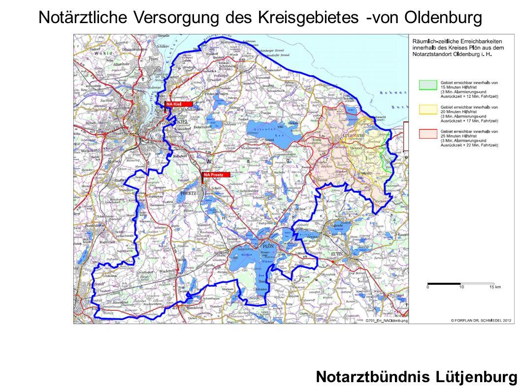 Notarztbündnis Lütjenburg Notärztliche Versorgung des Kreisgebietes -von Oldenburg