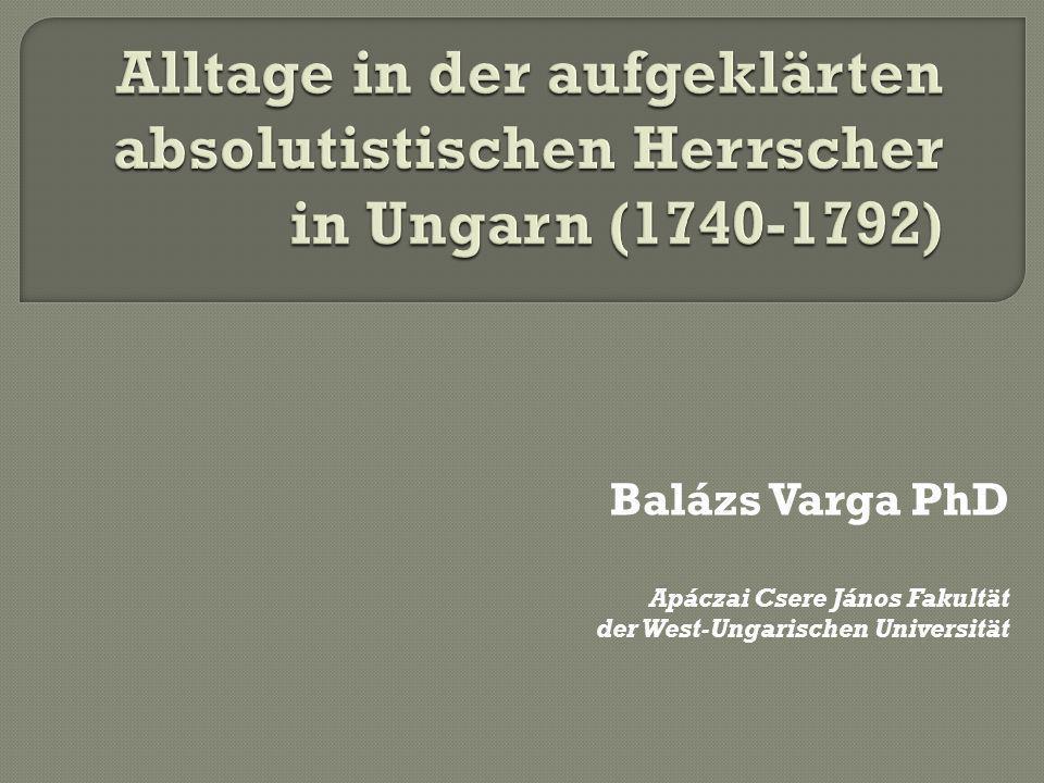 Balázs Varga PhD Apáczai Csere János Fakultät der West-Ungarischen Universität