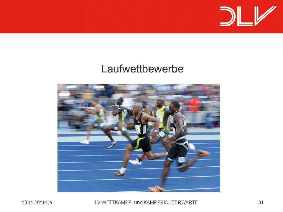 3113.11.2011/HaLV WETTKAMPF- und KAMPFRICHTERWARTE Laufwettbewerbe