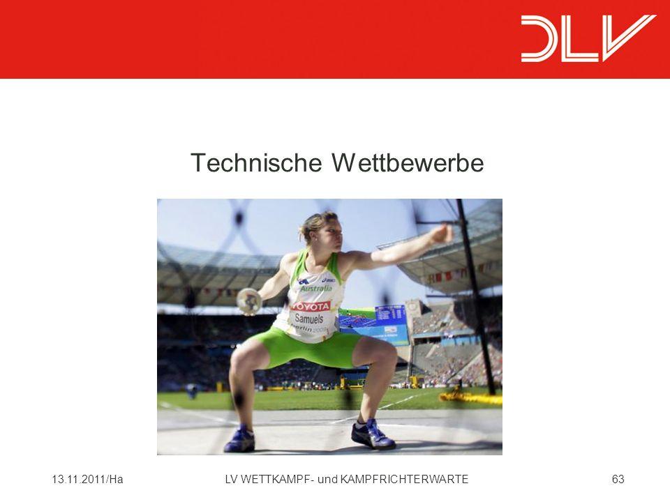 6313.11.2011/HaLV WETTKAMPF- und KAMPFRICHTERWARTE Technische Wettbewerbe