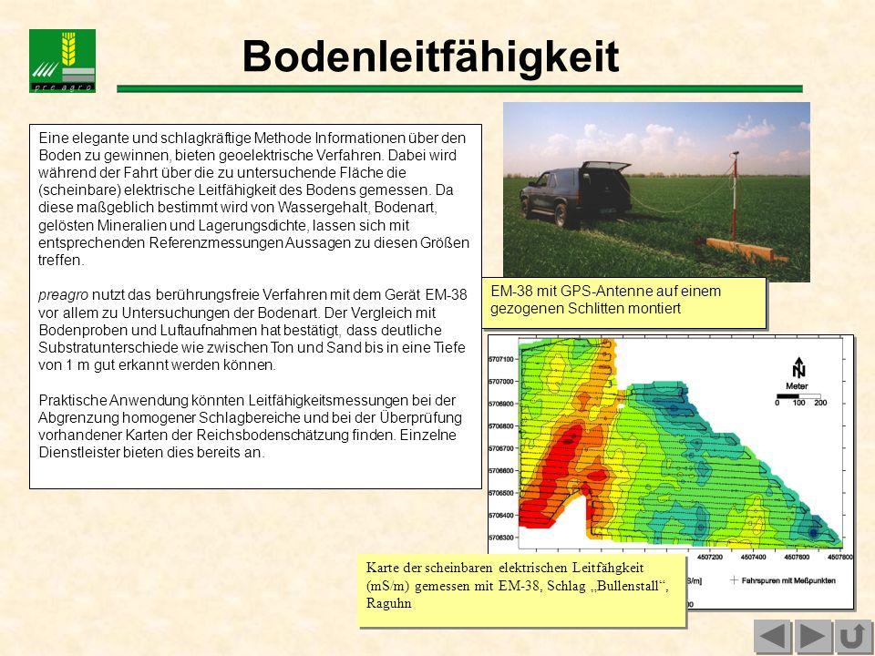 Luftbilder Fernerkundung kann die Ableitung teilflächenspezifischer Maßnahmen im Pflanzenbau durch verschiedenste Informationen unterstützen.
