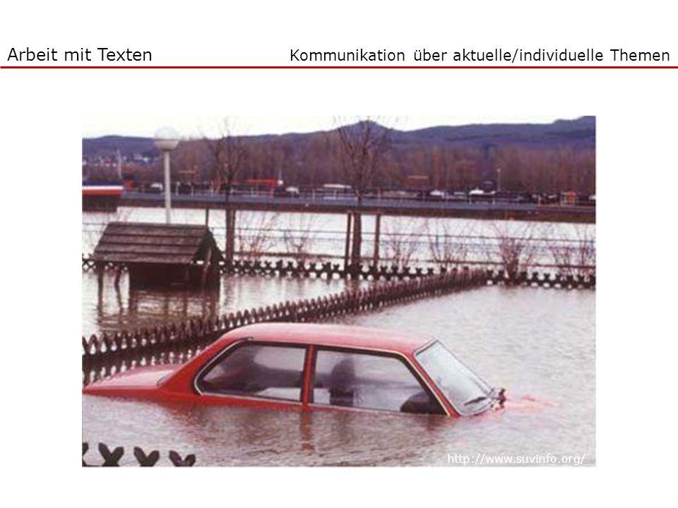 Kommunikation über aktuelle/individuelle Themen http://www.suvinfo.org/