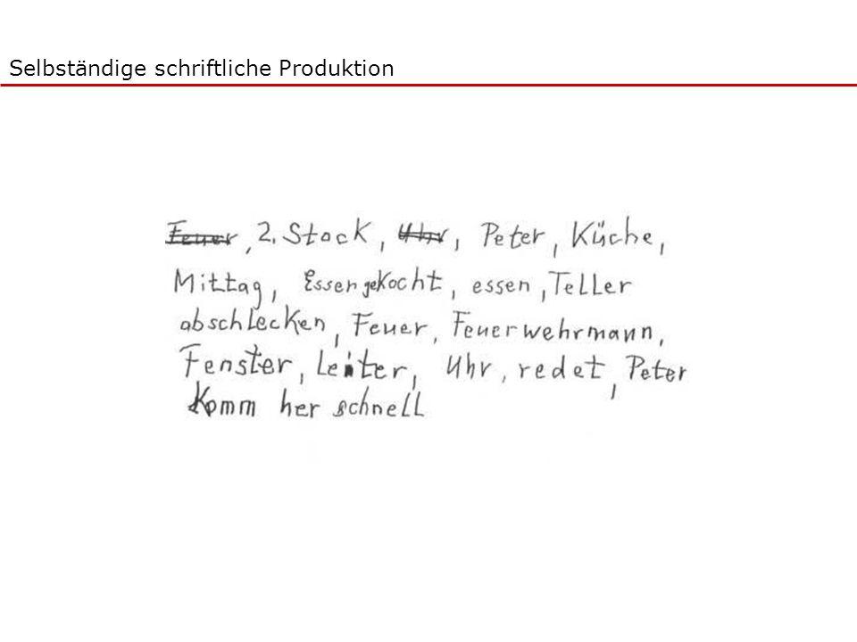 Selbständige schriftliche Produktion