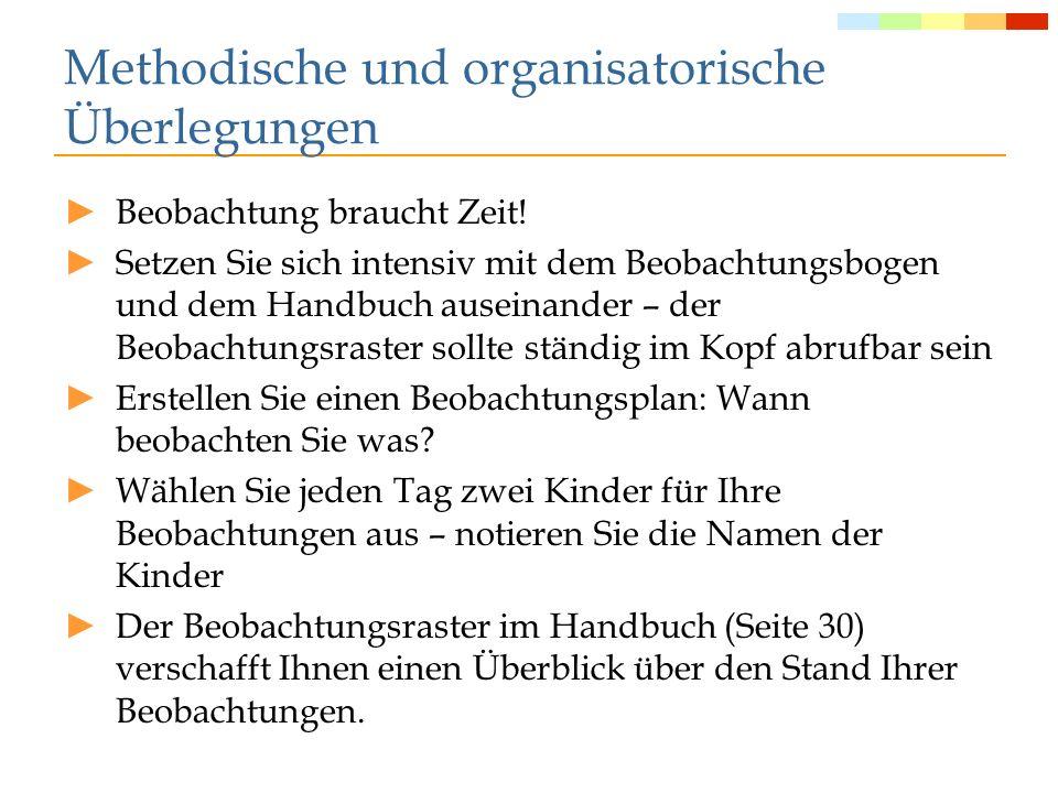 Nach der Beobachtung Aufbewahrung der Bögen Elterngespräche Abgrenzung des eignen Kompetenzbereichs differenzierte sprachliche Förderung aufbauend auf den Beobachtungsergebnissen ev.