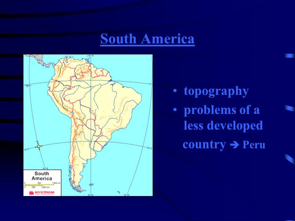 Südamerika Topographie Probleme eines Entwick- lungslandes am Beispiel von Peru